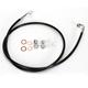 Black Vinyl Coated Stainless Braided Brake Line for Use w/Mini Ape Hangers - LA-8130B08B