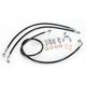 Black Vinyl Coated Stainless Braided Brake Line for Use w/12 in. to 14 in. Ape Hangers  (w/ ABS) - LA-8150B13B