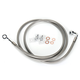 Stainless Braided Brake Line for Use w/18 in. to 20 in. Ape Hangers - LA-8220B19