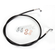 Black Vinyl Coated Stainless Braided Brake Line for Use w/18 in. to 20 in. Ape Hangers - LA-8220B19B