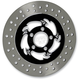 Black/Chrome 11.5 in. Savage Eclipse Rear Floating Two-Piece Brake Rotor - ZSSFL11785ELR2K