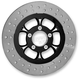 Black/Chrome 11.8 in. Majestic Eclipse Left Front Floating Two-Piece Brake Rotor - ZSFL117102EFL2K