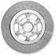 Chrome 11.8 in. Majestic Left Front Floating Two-Piece Brake Rotor - ZSFL117102CFL2K