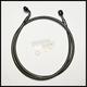 Black Pearl E-Z Align 56 in. Alternative Length Single Disc Non-ABS Front Brake Line - 46856SW