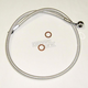 Custom Sterling Chromite II Designer Series 13 in. Dual Disc ABS Front Upper Brake Line Kit - AS37113