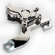 Chrome Direct Bolt-On Four Piston Rear Brake Caliper - 1290-0073RSD-CH