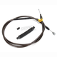 Midnight Stainless Clutch Cable for use w/18 in. to 20 in. Ape Hangers - LA-8210C19M