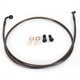 Midnight Stainless Brake Line for Use w/18 in. to 20 in. Ape Hangers - LA-8220B19M