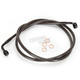 Midnight Stainless Brake Line for Use w/15 in. to 17 in. Ape Hangers - LA-8310B16M