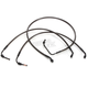 Midnight Stainless Brake Line for Use w/12 in. to 14 in. Ape Hangers - LA-8010B13M