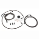 Midnight Stainless Brake Line for Use w/18 in. to 20 in. Ape Hangers w/ABS - LA-8050B19M