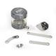 Gunmetal/Clear Front Brake Reservoir - 04-01805-29