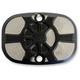 Laser Fusion Satin Black  Fusion Rear Brake Master Cylinder Cover - LA-F551-00M