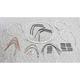 Sterling Chromite II Designer Series Handlebar Installation Kit for use w/14 in.-16 in. Ape Hangers - 387653
