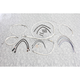 Sterling Chromite II Designer Series Handlebar Installation Kit for use w/10 in.-12 in. Ape Hangers w/ABS - 387672