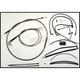 Black Pearl Designer Series Handlebar Installation Kit for use w/18 in.-20 in. Ape Hanger Handlebars w/ABS - 487583