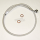 Sterling Chromite II Designer Series ABS Upper Brake Line 90 degree 10mm 23 in. - AS37223