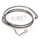 Stainless Steel ABS Extended Length Dual Disc Front Upper Brake Line +4 in. - 1741-4499