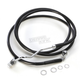 Black ABS Extended Length Dual Disc Front Upper Brake Line +4 in. - 1741-4506