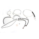Sterling Chromite II Designer Series Handlebar Installation Kit for Use w/15 in.-17 in. Ape Hangers w/ABS - 387732