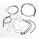 Black Pearl Designer Series Handlebar Installation Kit for use w/15 in.-17 in. Ape Hangers w/ABS - 487732