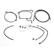 Black Pearl Designer Series Handlebar Installation Kit for use w/15 in.-17 in. Ape Hangers (Non-ABS) - 487742