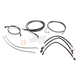 Black Pearl Designer Series Handlebar Installation Kit for use w/18 in.-20 in. Ape Hangers w/ABS - 487763