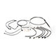 Black Pearl Designer Series Handlebar Installation Kit for use w/18 in.-20 in. Ape Hangers w/ABS - 487803