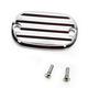 Chrome Finned Rear Brake Master Cylinder Cover - 08-01FN
