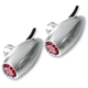 Clear Anodized Astro Red LED Side Rail-Mount Marker Lights - 05-53RS