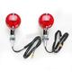Round #1 Single Filament Marker Lights w/Red Lens - 25-8322CM