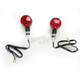 Round #1 Single Filament Marker Lights w/Red Lens - 25-8322BK