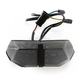 Black Integrated Taillight w/Smoke Lens - MPH-80159B
