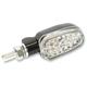 Black Satin Aluminum Oblong Single Filament LED Marker Lights w/Clear Lens - 26-8304BK