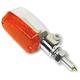 Chrome Aluminum Oblong Single Filament LED Marker Lights w/Amber Lens - 26-8300CM