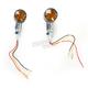 Aluminum Round #2 Dual Filament LED Marker Lights w/Smoke Lens - 26-8336