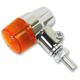 Chrome Aluminum Round #3 Dual Filament LED Marker Lights w/Amber Lens - 26-8607