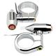 Chrome 41mm Vega LED Fork Mount Turn Signals w/ Amber Lens - 05-58-2C