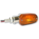 Chrome Incandescent Turnsignals w/Amber Lens and Three-Wires - 25-7701CM