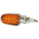 Chrome LED Turnsignals w/Amber Lens and Three-Wires - 26-7701CM