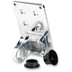 Polished Solution License Plate Axle Mount Bracket - LB-UNI-AL-PS