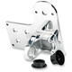 Polished Horizontal Axle Mount Solution License Plate and Taillight Bracket - LB-SID-AL-PS