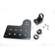 Matte Black Horizontal Axle Mount Solution License Plate and Taillight Bracket - LB-SID-AL-BK