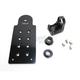Matte Black Vertical Axle Mount Solution License Plate and Taillight Bracket - LB-TOP-AL-BK