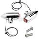 Chrome Vega LED Side Rail Turn Signals w/Red Lens - 05-57-RC