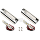 Polished Red LED 1 in. X 3.75 in. Handlebar Driving Light Kit - 1X3.75PR