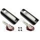Black White LED 1.25 in. X 3.75 in. Engine Guard/Marker Light Kit - 1.25X3.75BW