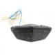 Black Integrated Taillight w/Smoke Lens - MPH-40037B