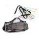 Black Integrated Taillight w/Smoke Lens - MPH-50074B