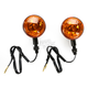 Black Incandescent DOT Approved/ E-Marked Aluminum Body Turn Signal w/ Amber Lens - 25-5301